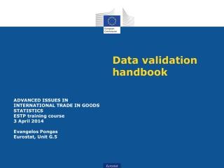 Data validation handbook