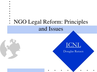 NGO Legal Reform: Principles and Issues
