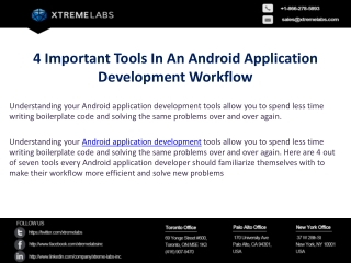 4 Important Tools In An Android Application Development Work