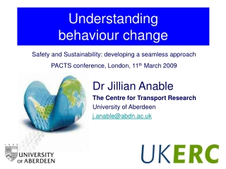 Understanding  behaviour change