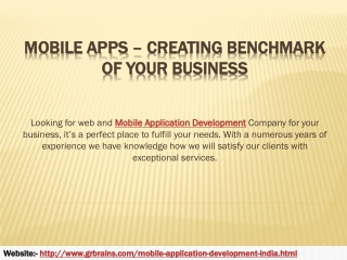 Mobile Apps – Creating Benchmark of Your Business