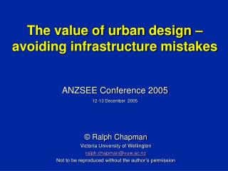 The value of urban design – avoiding infrastructure mistakes