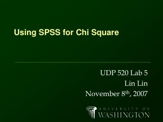 Using SPSS for Chi Square