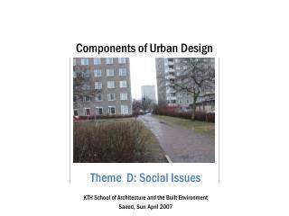 Components of Urban Design