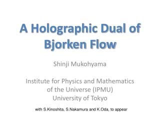 A Holographic Dual of  Bjorken Flow