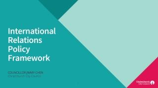 International Relations Policy Framework