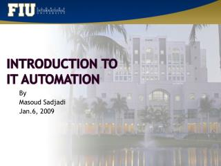Introduction to IT Automation