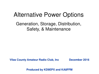 Alternative Power Options