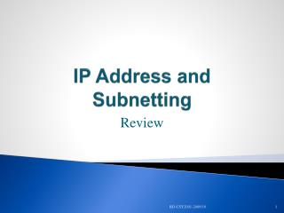 IP Address and  Subnetting
