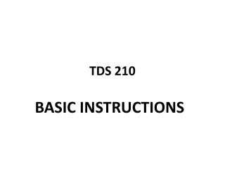 TDS 210