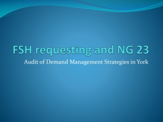 FSH requesting and NG 23