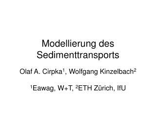 Modellierung des Sedimenttransports