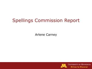 Spellings Commission Report