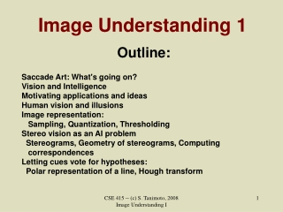 Image Understanding 1