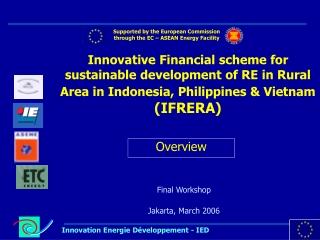 Final Workshop Jakarta, March 2006