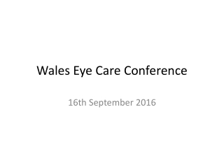 Wales Eye Care Conference