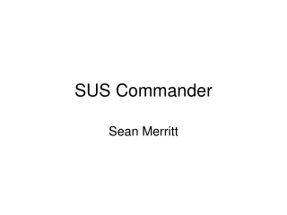 SUS Commander