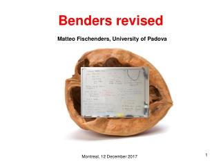 Benders revised