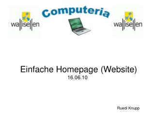 Einfache Homepage (Website) 16.06.10