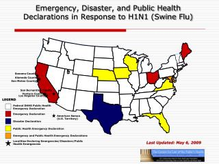 Emergency, Disaster, and Public Health Declarations in Response to H1N1 (Swine Flu)