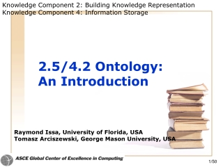 2.5/4.2 Ontology:  An Introduction