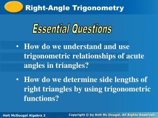 Right-Angle Trigonometry