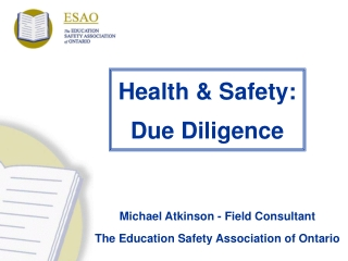 Health & Safety: Due Diligence