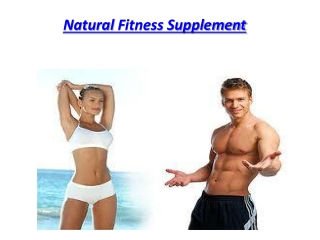 Natural Fitness Supplement