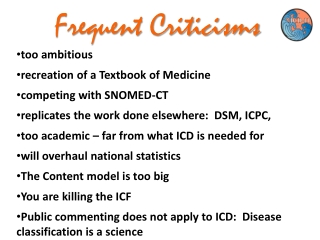 Frequent Criticisms