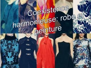 Coexistence harmonieuse: robe et peinture
