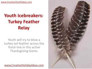 Youth Icebreakers: Turkey Feather Relay