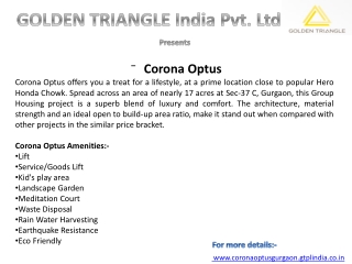 Corona Optus  9560505862   9818833409  Sector 37 Gurgaon