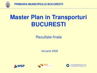 Master Plan in Transporturi BUCURESTI