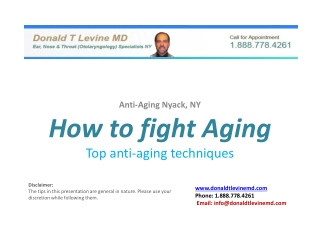 How to fight Aging - Top anti-aging techniques