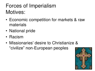 Forces of Imperialism Motives: