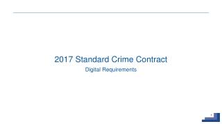 2017 Standard Crime Contract  Digital Requirements