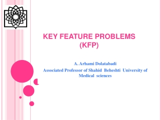 KEY FEATURE PROBLEMS (KFP)