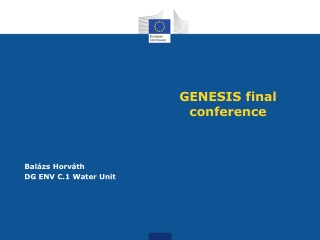 GENESIS final conference