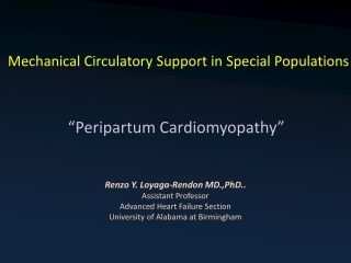 Mechanical Circulatory Support in Special Populations