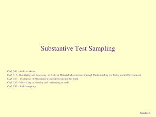 Substantive Test Sampling