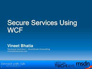 Secure Services Using WCF
