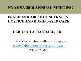 NYAHSA 2010 ANNUAL MEETING