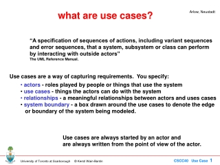 what are use cases?