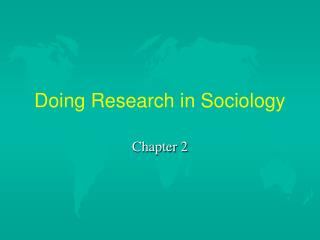 Doing Research in Sociology