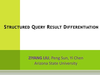 Structured Query Result Differentiation