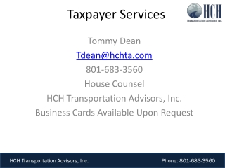 Taxpayer Services