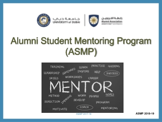 Alumni Student Mentoring Program (ASMP)