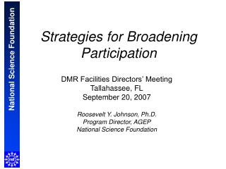 Strategies for Broadening Participation