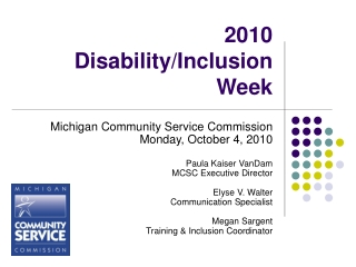 2010  Disability/Inclusion Week