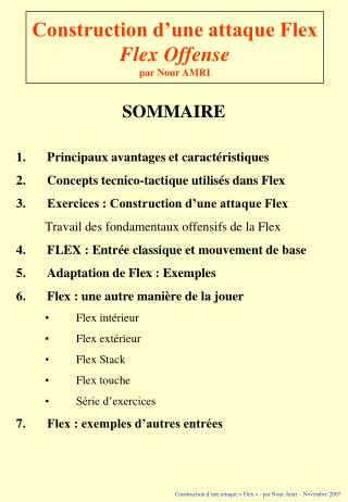 Construction d une attaque Flex Flex Offense par Nour AMRI